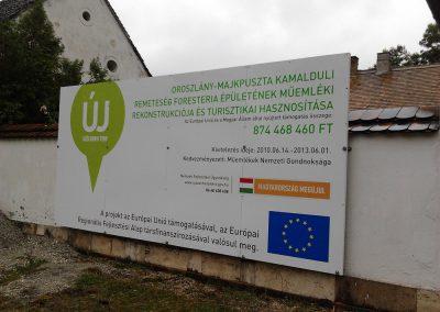 Corner GR - EU projekttábla készítés, tartószerkezet gyártás, telepítés
